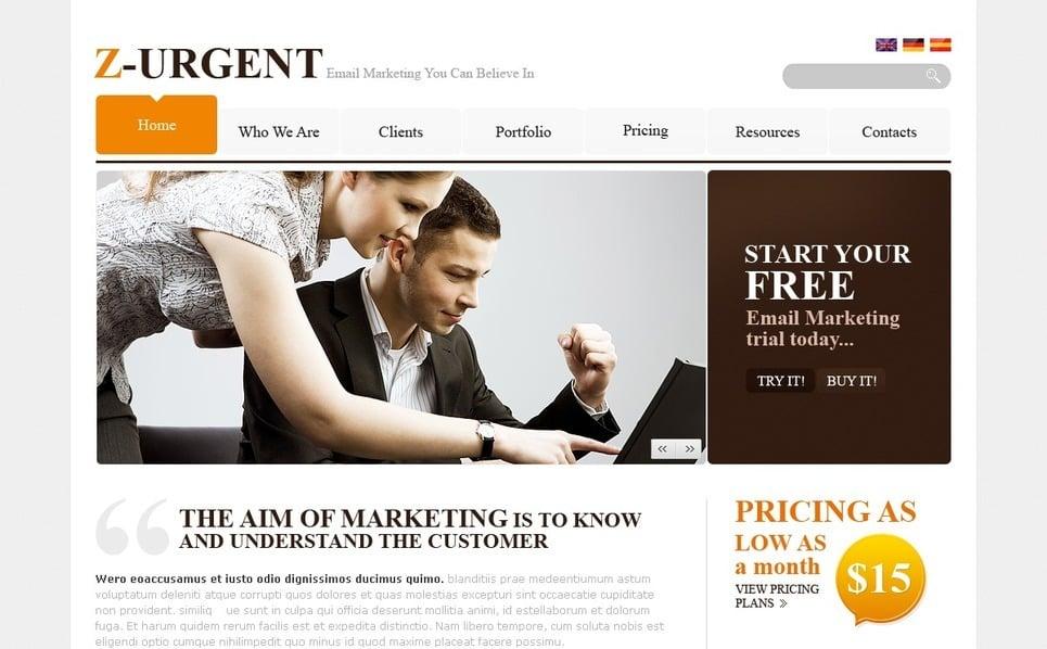 PSD шаблон №54501 на тему Бизнес и услуги New Screenshots BIG