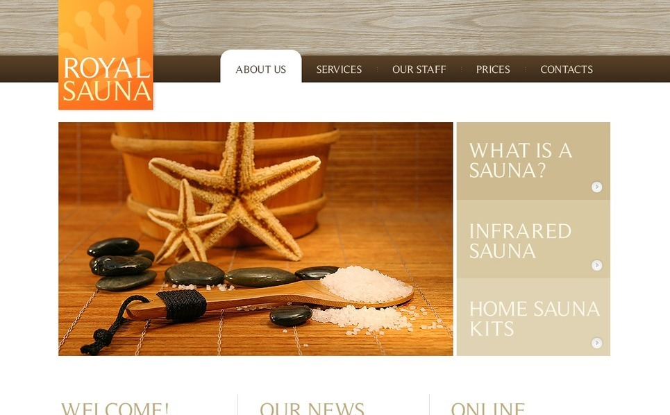 Template Photoshop  para Sites de Sauna №54502 New Screenshots BIG