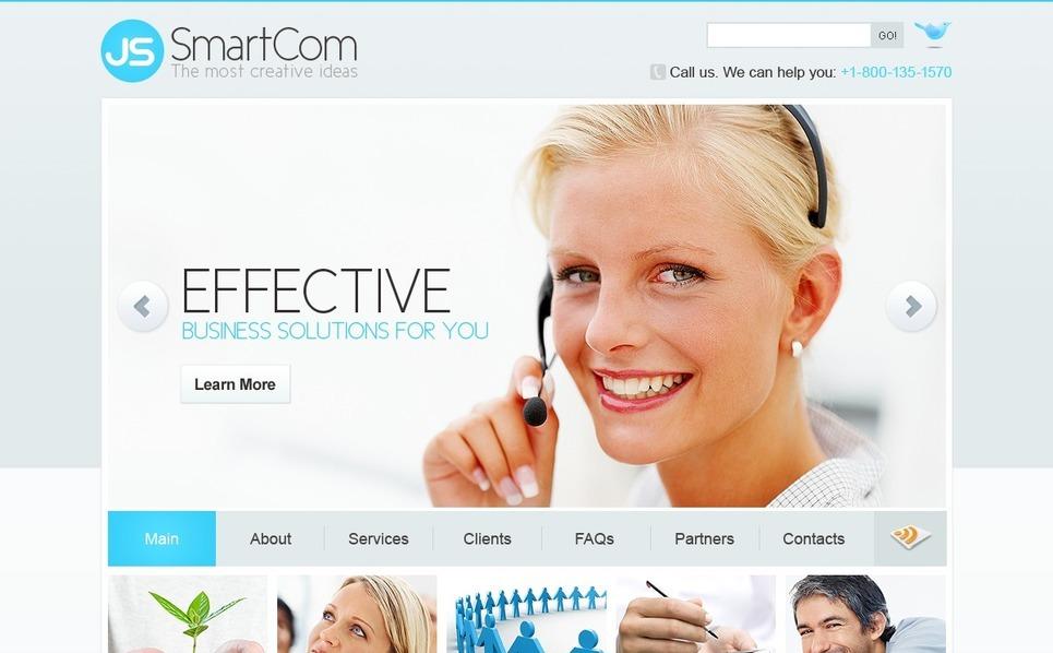 Plantilla PSD #54503 para Sitio de Negocio y Servicios New Screenshots BIG