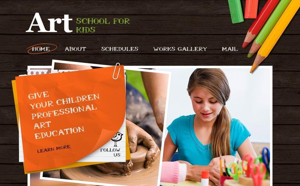 Művészeti iskolák PSD sablon New Screenshots BIG