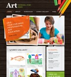 Art & Photography PSD  Template 54505