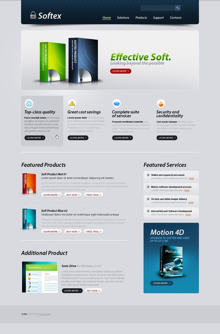 ADOBE Photoshop Template 54506 Home Page Screenshot
