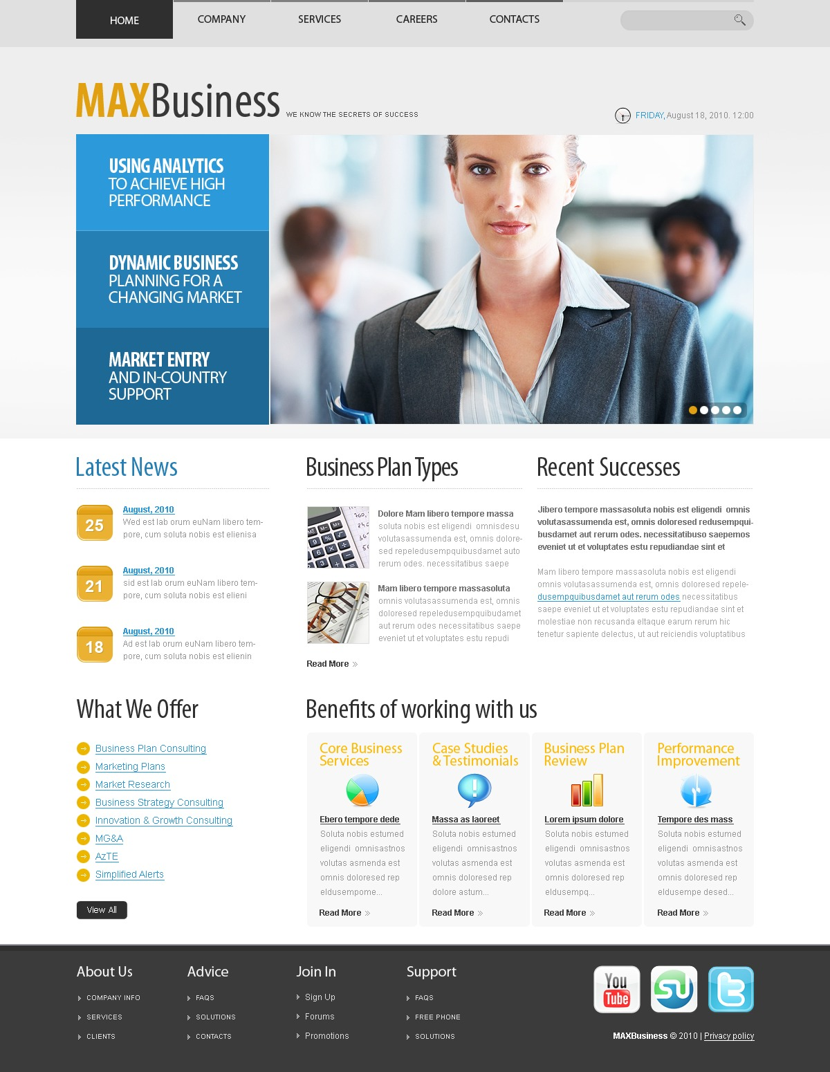 The Max Business Company PSD Design 54508, one of the best PSD templates of its kind (business, flash 8, wide), also known as max business company PSD template, corporate solutions PSD template, innovations PSD template, contacts PSD template, service PSD template, support PSD template, information dealer PSD template, stocks PSD template, team PSD template, success PSD template, money PSD template, marketing PSD template, director PSD template, manager PSD template, analytics PSD template, planning PSD template, limited PSD template, office PSD template, sales and related with max business company, corporate solutions, innovations, contacts, service, support, information dealer, stocks, team, success, money, marketing, director, manager, analytics, planning, limited, office, sales, etc.