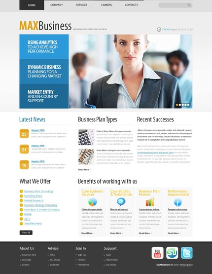ADOBE Photoshop Template 54508 Home Page Screenshot