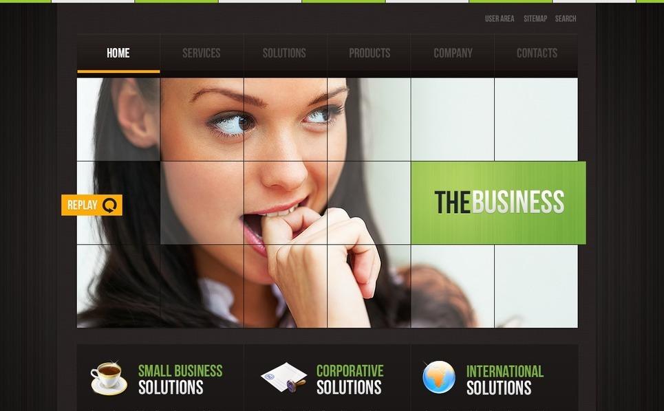 Szablon PSD #54510 na temat: biznes i usługi New Screenshots BIG