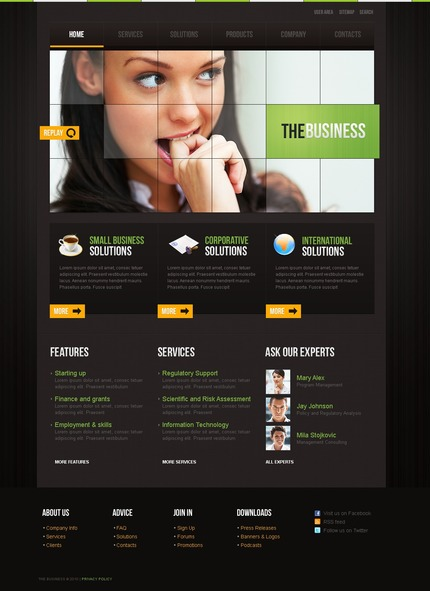 ADOBE Photoshop Template 54510 Home Page Screenshot