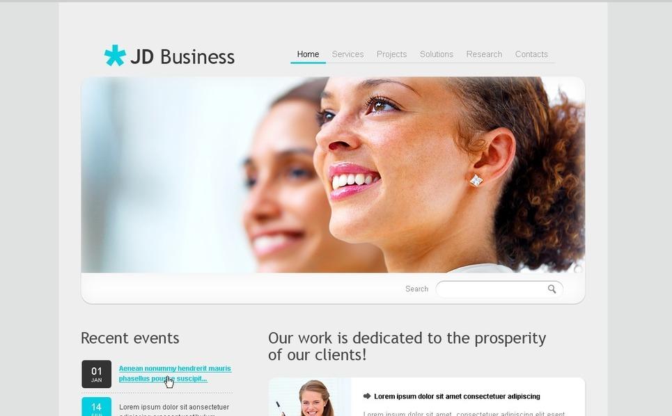 Plantilla PSD #54511 para Sitio de Negocio y Servicios New Screenshots BIG