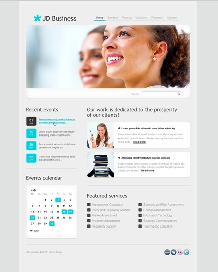 ADOBE Photoshop Template 54511 Home Page Screenshot