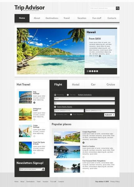 PSD макет сайта №54512