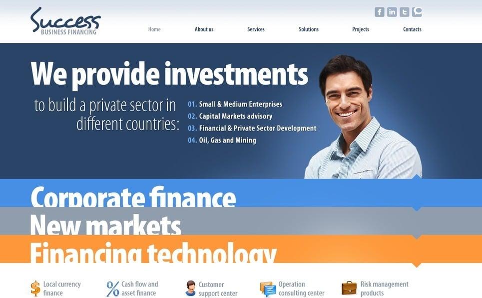 Szablon PSD #54514 na temat: firma inwestycyjna New Screenshots BIG