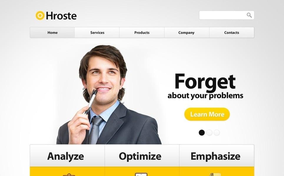 Plantilla PSD #54515 para Sitio de Negocio y Servicios New Screenshots BIG