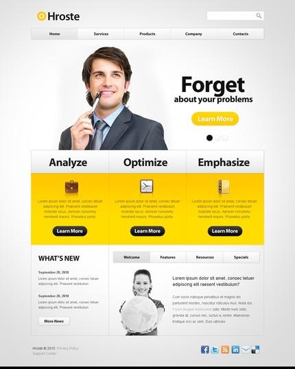 ADOBE Photoshop Template 54515 Home Page Screenshot