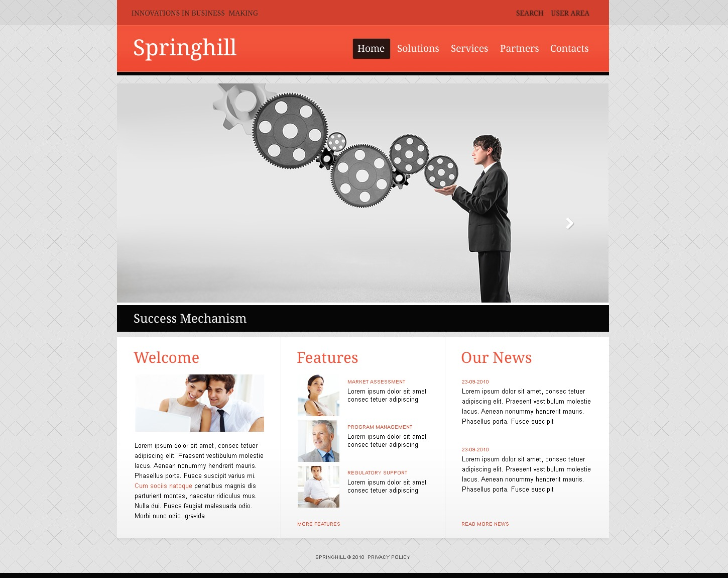 The Springhill Business Company PSD Design 54517, one of the best PSD templates of its kind (business, wide, jquery), also known as springhill business company PSD template, corporate solutions PSD template, innovations PSD template, contacts PSD template, service PSD template, support PSD template, information dealer PSD template, stocks PSD template, team PSD template, success PSD template, money PSD template, marketing PSD template, director PSD template, manager PSD template, analytics PSD template, planning PSD template, limited PSD template, office PSD template, sales and related with springhill business company, corporate solutions, innovations, contacts, service, support, information dealer, stocks, team, success, money, marketing, director, manager, analytics, planning, limited, office, sales, etc.
