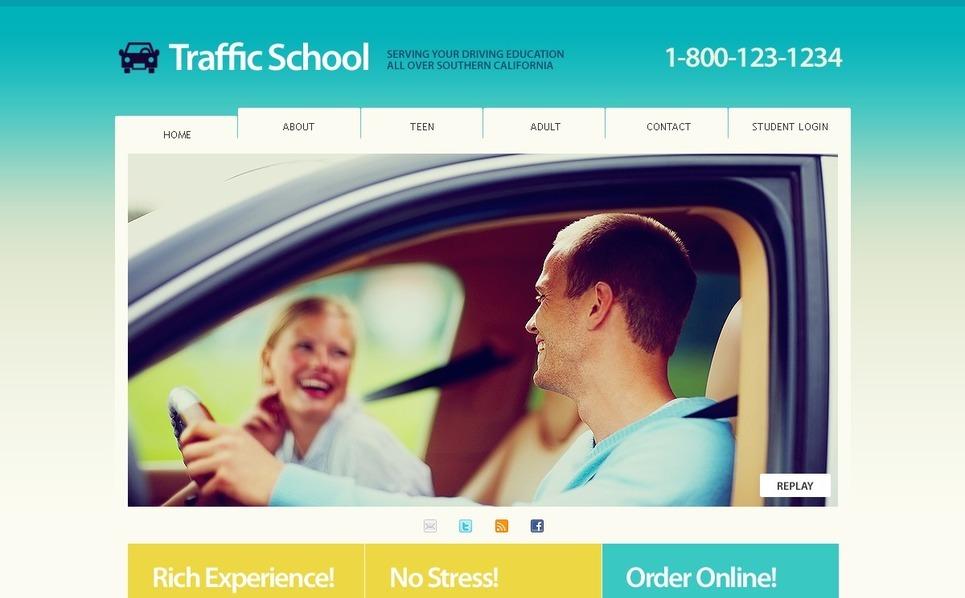 PSD шаблон на тему школа водіїв New Screenshots BIG