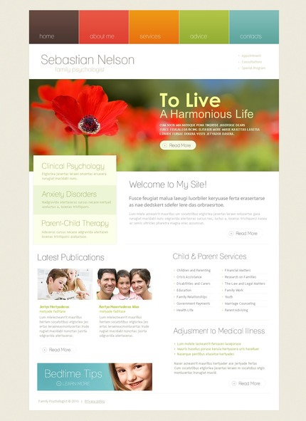 ADOBE Photoshop Template 54522 Home Page Screenshot