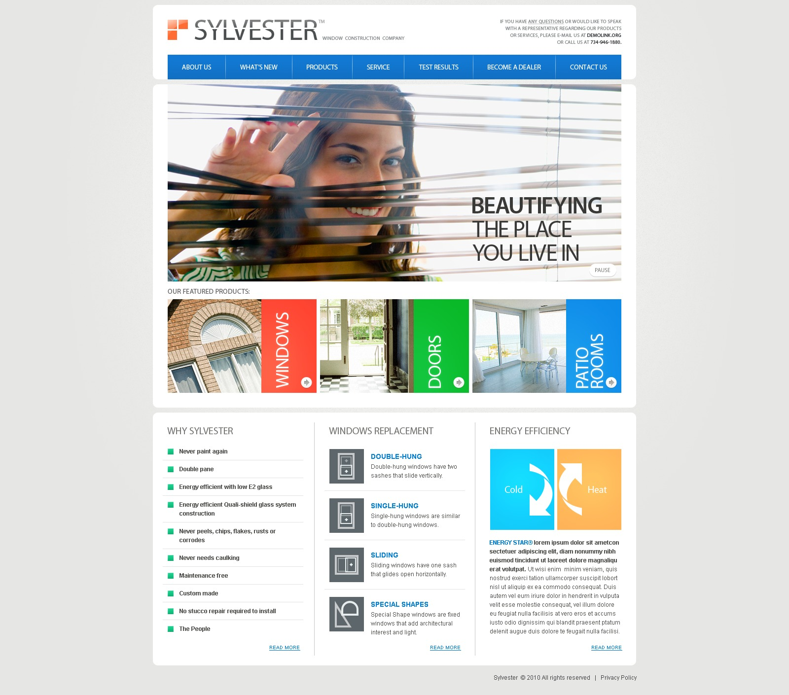 The Sylvester Window PSD Design 54525, one of the best PSD templates of its kind (interior & furniture, flash 8, wide), also known as sylvester window PSD template, construction PSD template, manufacturing PSD template, glass PSD template, frame PSD template, replacement PSD template, air PSD template, home PSD template, wood PSD template, wooden PSD template, plastic modern comfort PSD template, service company PSD template, door and related with sylvester window, construction, manufacturing, glass, frame, replacement, air, home, wood, wooden, plastic modern comfort, service company, door, etc.