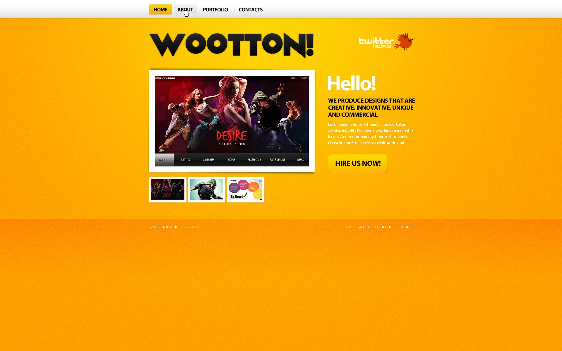 The Wootton! Design Studio PSD Design 54528, one of the best PSD templates of its kind (web design, wide, jquery), also known as wootton! design studio PSD template, creative art gallery PSD template, artists PSD template, painting PSD template, painters PSD template, web development PSD template, webmasters PSD template, designers PSD template, internet PSD template, www PSD template, sites PSD template, web design PSD template, webpage PSD template, personal portfolio and related with wootton! design studio, creative art gallery, artists, painting, painters, web development, webmasters, designers, internet, www, sites, web design, webpage, personal portfolio, etc.