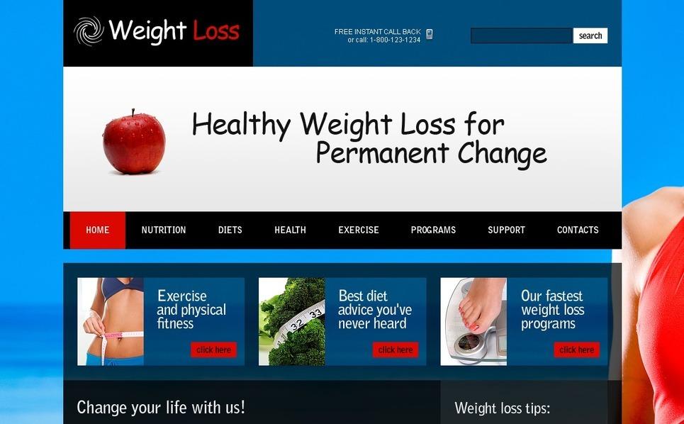 Template PSD  #54529 per Un Sito di Perdita Peso New Screenshots BIG