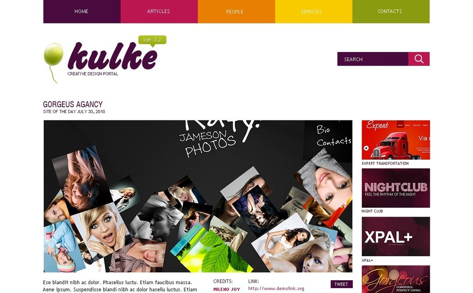 Template Photoshop  para Sites de Web Design №54532 New Screenshots BIG