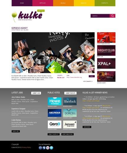 ADOBE Photoshop Template 54532 Home Page Screenshot