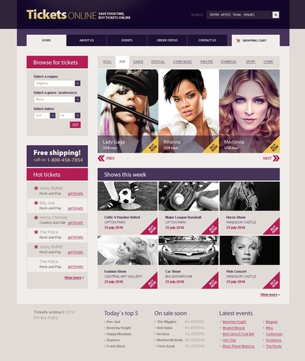 ADOBE Photoshop Template 54534 Home Page Screenshot