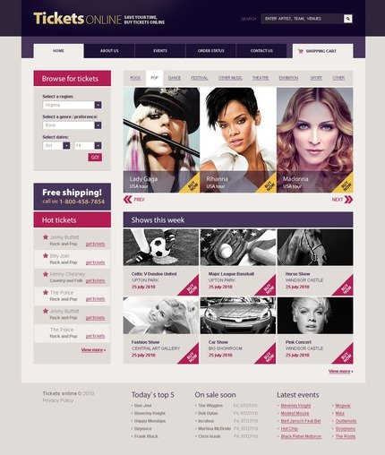 PSD макет сайта №54534
