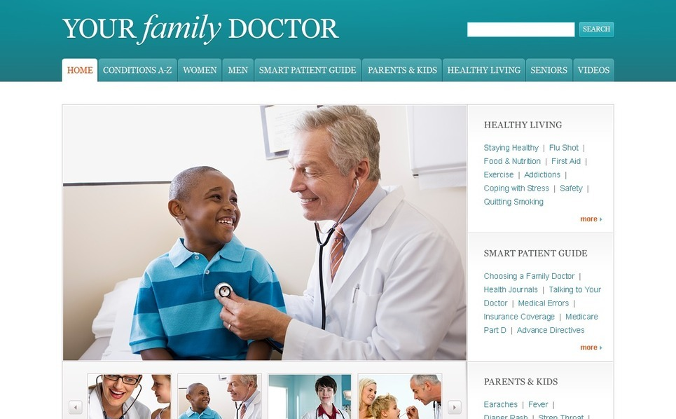 Szablon PSD #54535 na temat: pediatra New Screenshots BIG