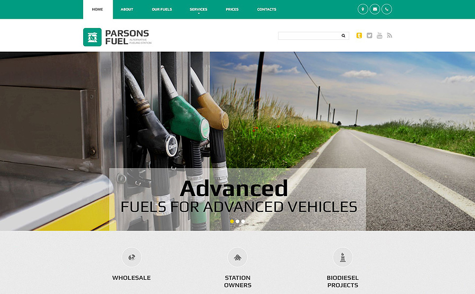 Responsive Website template over Gas & Olie  New Screenshots BIG