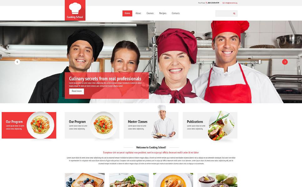 Responsywny szablon strony www #54545 na temat: szkoła gastronomiczna New Screenshots BIG