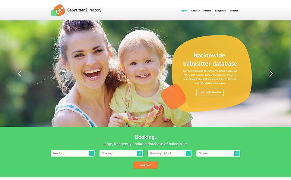 Responzivní Šablona webových stránek na téma Domácí opatrovnice dětí New Screenshots BIG