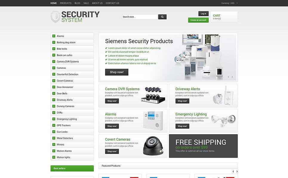Template Shopify Responsive #54547 per Un Sito di Sicurezza New Screenshots BIG