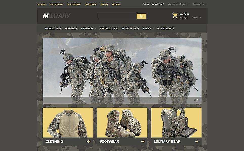 """Tema Magento """"Tienda de Artículos Militares"""" New Screenshots BIG"""