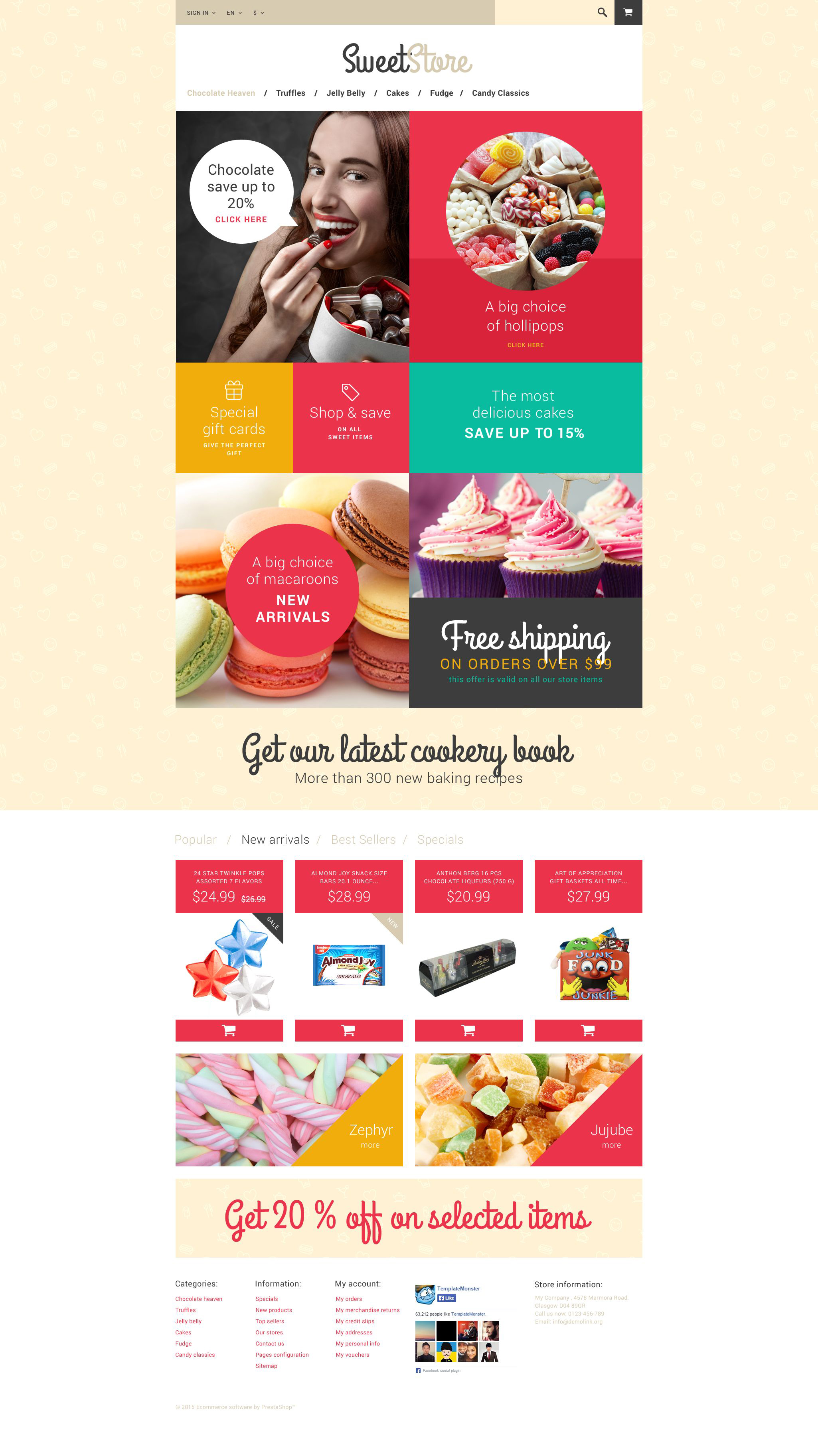 The Sweet Life PrestaShop Design 54553, one of the best PrestaShop themes of its kind (food & drink, most popular), also known as sweet life PrestaShop template, sweets PrestaShop template, house PrestaShop template, candy store PrestaShop template, chocolate PrestaShop template, candy PrestaShop template, nuts PrestaShop template, raisin PrestaShop template, products PrestaShop template, services PrestaShop template, order PrestaShop template, boxed PrestaShop template, chocolate PrestaShop template, assortment PrestaShop template, butter PrestaShop template, cream PrestaShop template, fruits PrestaShop template, gourmet PrestaShop template, pretzel PrestaShop template, truffles PrestaShop template, sugar PrestaShop template, free gummy PrestaShop template, chocolate PrestaShop template, bar PrestaShop template, dark milk PrestaShop template, white hot chocolate PrestaShop template, peanut PrestaShop template, creme PrestaShop template, brulee PrestaShop template, ginger PrestaShop template, pistachio and related with sweet life, sweets, house, candy store, chocolate, candy, nuts, raisin, products, services, order, boxed, chocolate, assortment, butter, cream, fruits, gourmet, pretzel, truffles, sugar, free gummy, chocolate, bar, dark milk, white hot chocolate, peanut, creme, brulee, ginger, pistachio, etc.