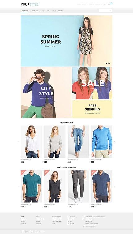 osCommerce Template 54556 Main Page Screenshot