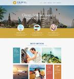 Travel Website  Template 54557