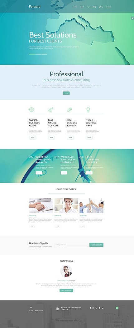 Joomla Theme/Template 54558 Main Page Screenshot