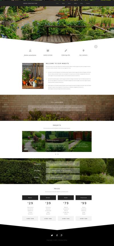 Trädgårdsdesign Responsivt Hemsidemall
