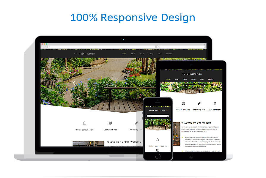 Exterior design website template 54562 for Exterior design website templates