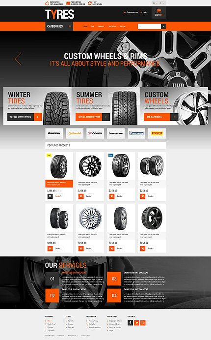 osCommerce Template 54563 Main Page Screenshot
