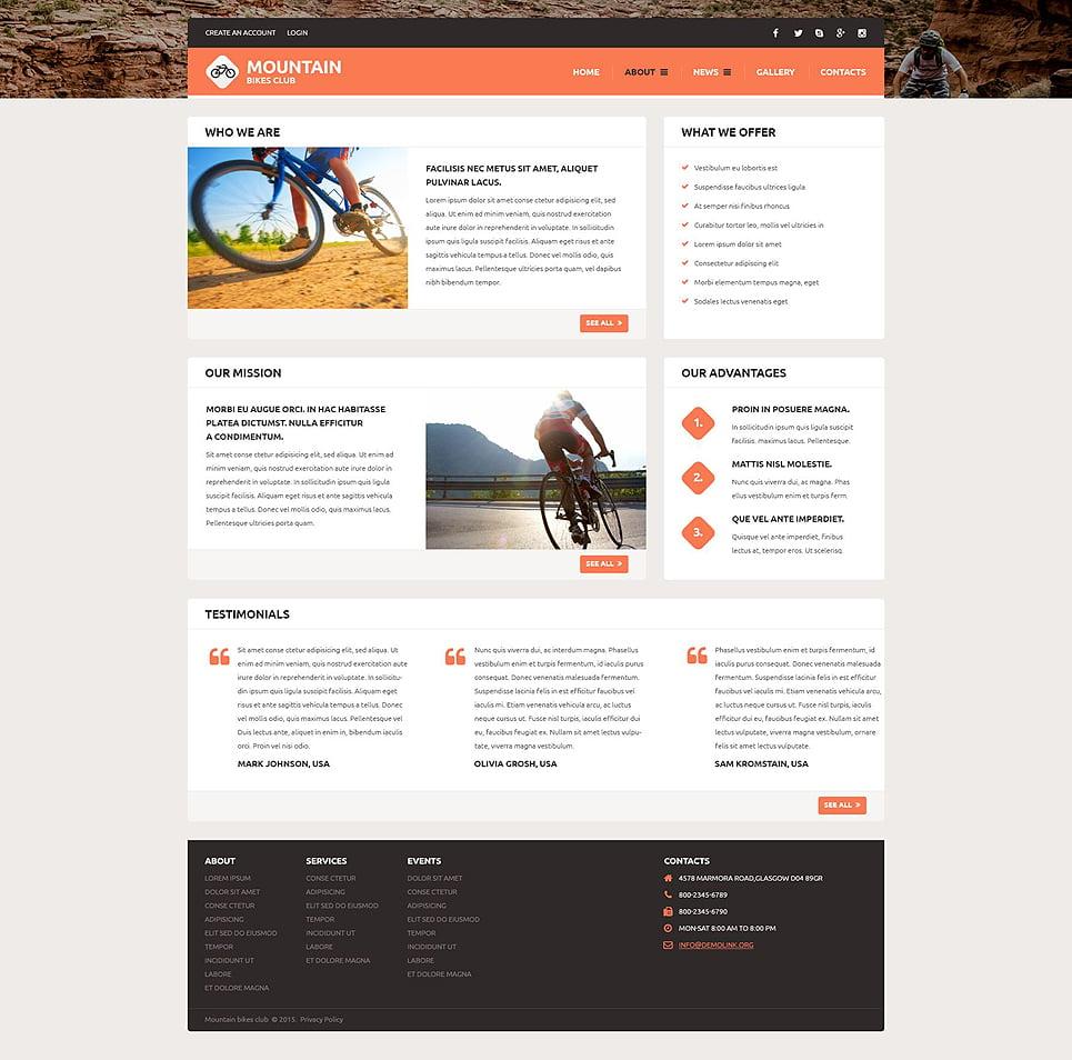 bike shop 54564 by wt website templates. Black Bedroom Furniture Sets. Home Design Ideas