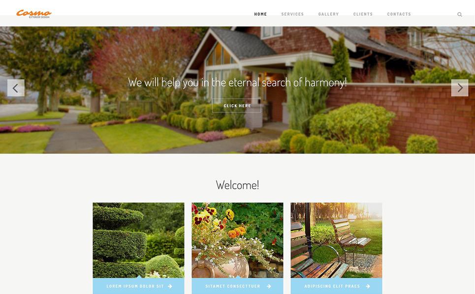 Responzivní Šablona webových stránek na téma Design exteriéru New Screenshots BIG