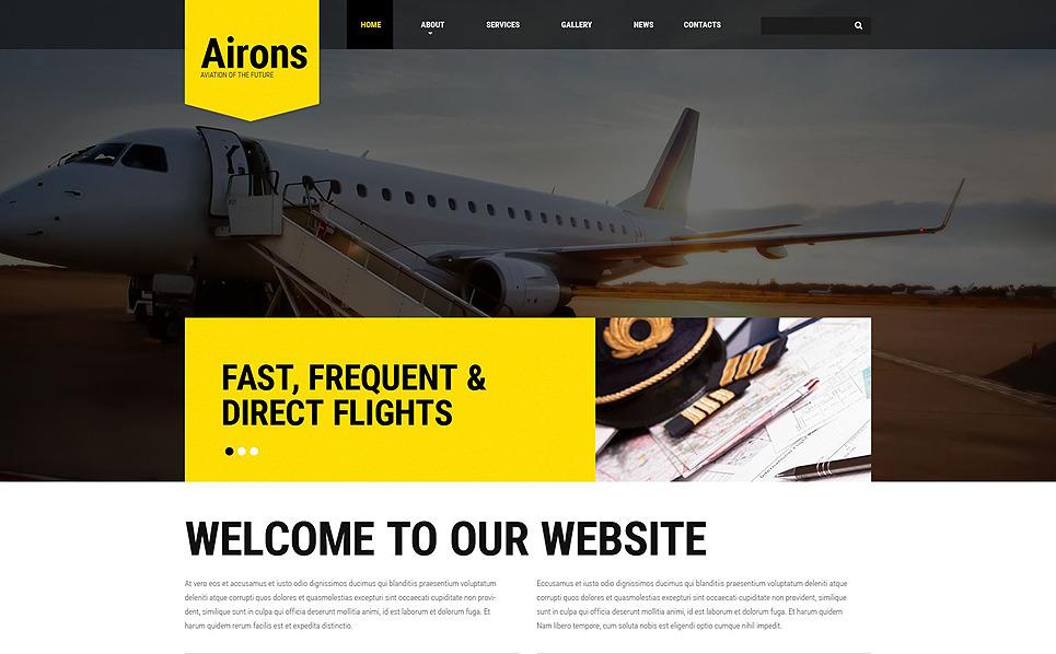 Responsywny szablon strony www #54567 na temat: prywatne linie lotnicze New Screenshots BIG