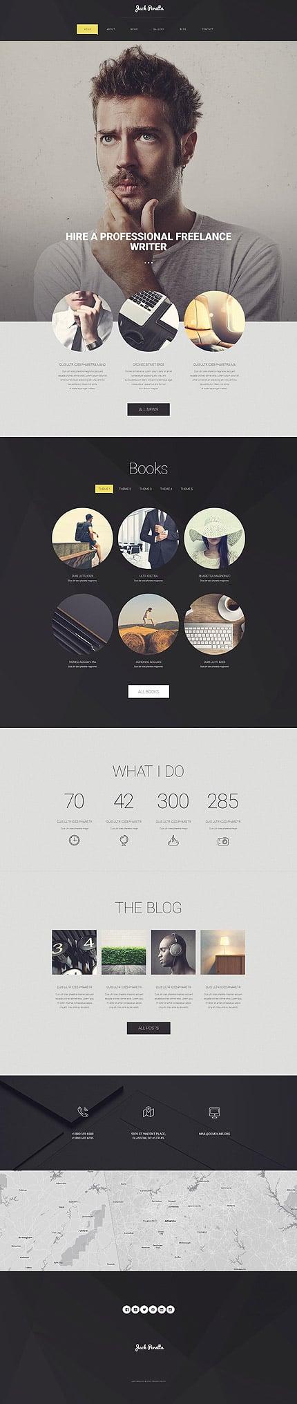 WordPress Theme/Template 54585 Main Page Screenshot