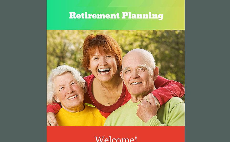 Responsywny szablon Newsletter #54589 na temat: planowanie emerytury New Screenshots BIG