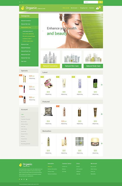 ADOBE Photoshop Template 54591 Home Page Screenshot