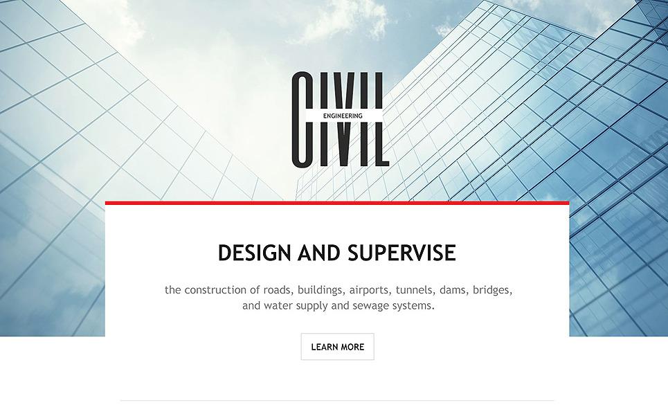 Reszponzív Építészet Nyítóoldal sablon New Screenshots BIG