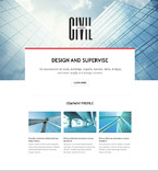 Architecture Landing Page  Template 54596