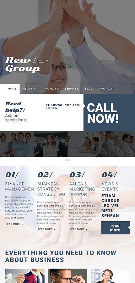 WordPress Theme/Template 54599 Main Page Screenshot