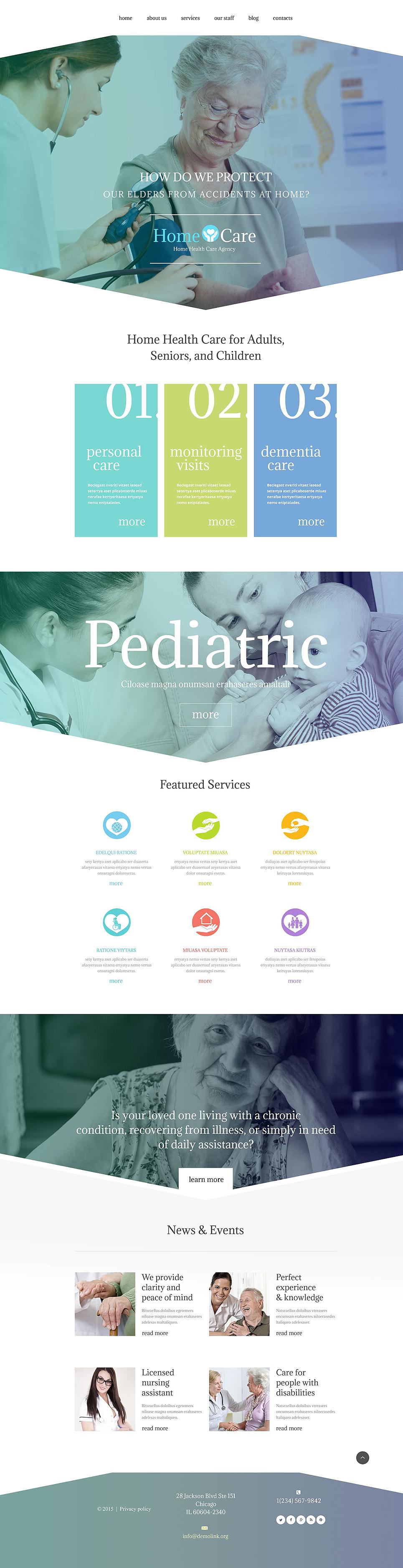 Адаптивный шаблон сайта на тему медицина #54574