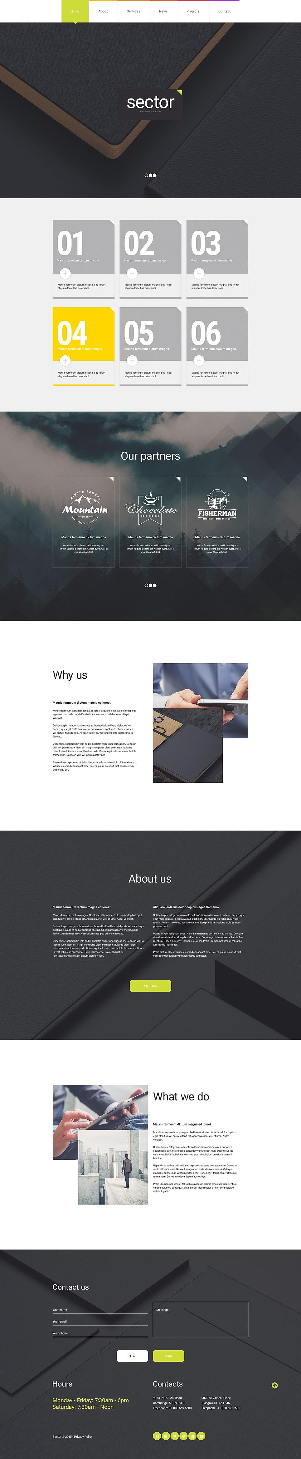 Адаптивный шаблон сайта на тему бизнес и услуги #54579
